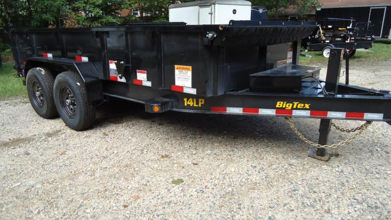2020 Big Tex Trailers DT 7X14 14LP 14BK6SIR BLACK Dump Trailer