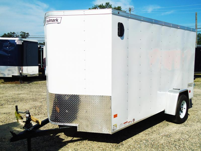 2017 Haulmark 6X12 PPT DS2 SVNTS WHITE Enclosed Cargo Trailer