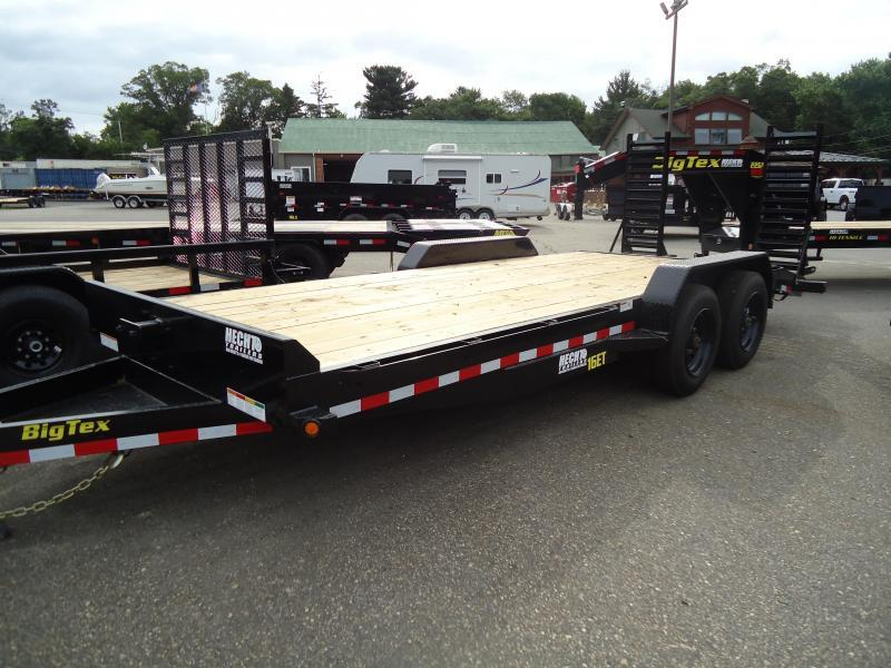2019 Big Tex Trailers EH 7X20 16ET 173BK5SUKR KNEE BLACK Equipment Trailer