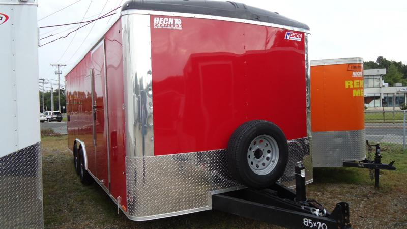 2020 Pace American 8.5X20 CLS TE3 RAMP SVNT RED Enclosed Cargo Trailer