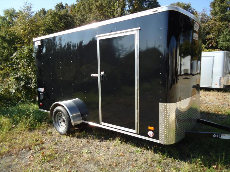 2019 Bravo Trailers 6X12 SC SA BLACK Enclosed Cargo Trailer