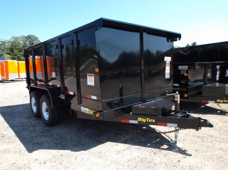 2018 Big Tex Trailers DT 7X14 14LX-14BK-P4 TARP BLACK Dump Trailer