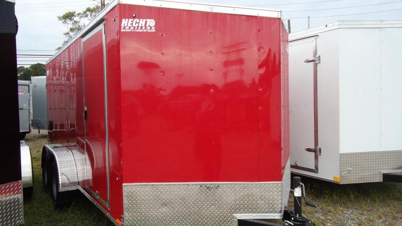 2020 Pace American 7X14 OBDLX TE2 30VS SVNT RED Enclosed Cargo Trailer