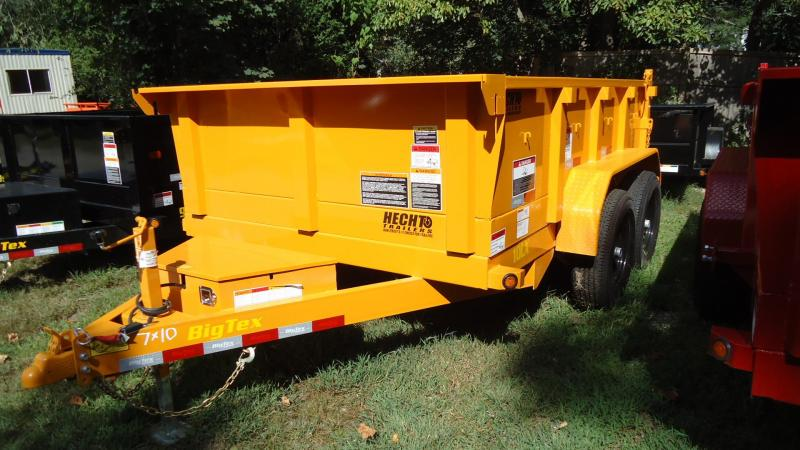 2020 Big Tex Trailers DT 7X10 10LX 10YE7SIR YELLOW Dump Trailer