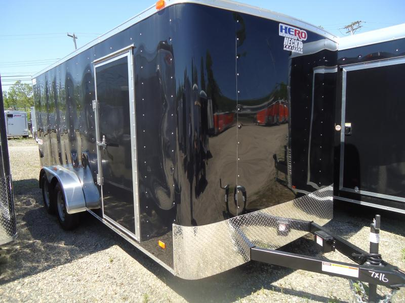 2019 Bravo Trailers 7X16 HR TA2 RAMP+ BLACK Enclosed Cargo Trailer