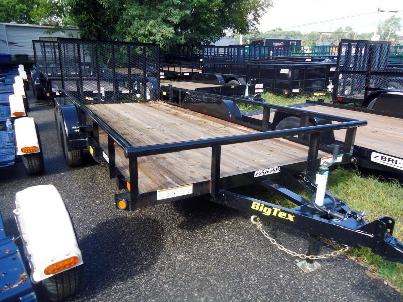 2019 Big Tex Trailers UT 7X20 70PI 20X BK 4RG ADJ COUP BLACK Utility Trailer
