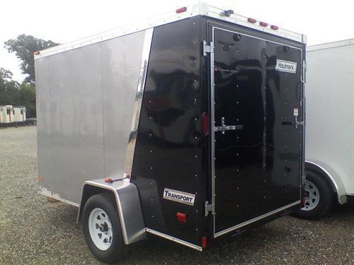 HAULMARK 6X10TSTV DS2 LD RAMP LAD RCK Cargo Pkg Silver & Black Enclosed Cargo Trailer