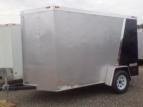 HAULMARK 6X10TSTV DS2 LD RAMP LAD RCK Cargo Pkg Silver & Black Enclosed Cargo Trailer