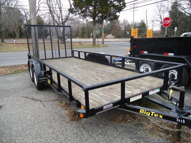 2010 USED Big Tex Trailers 70PI-18X Utility Trailer