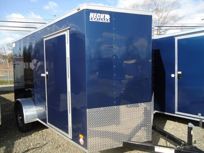 "2019 Bravo Trailers 6X12 SC SA 18""V APP LD RAMP BLUE Enclosed Cargo Trailer"