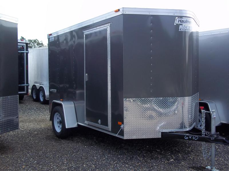 2017 Haulmark 6X10 TSTV DS2 DRNG RVNT W COV GRAY Enclosed Cargo Trailer