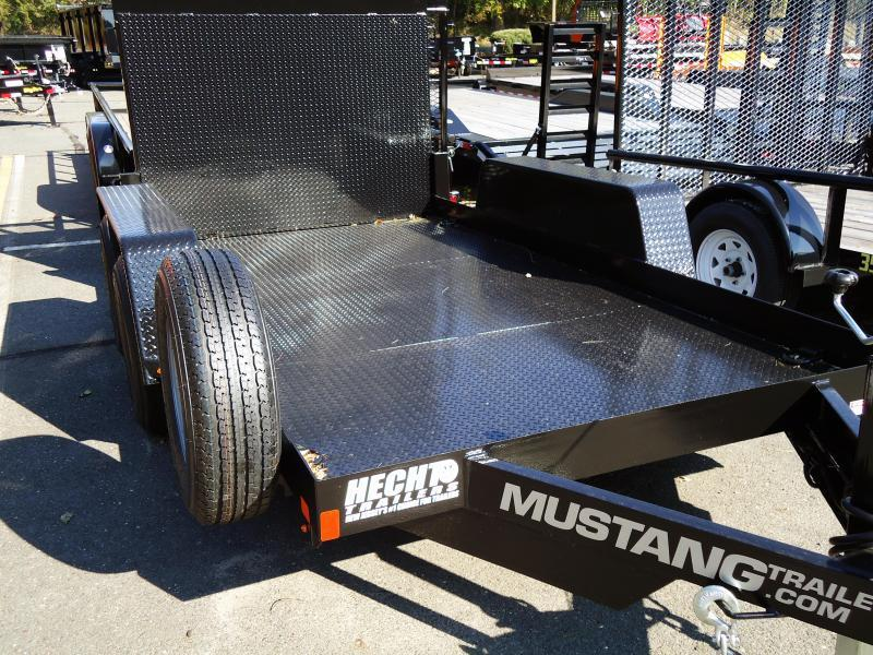 2018 Mustang Trailers UT 6X12 10K STEEL DECK RAMP BLACK Utility Trailer