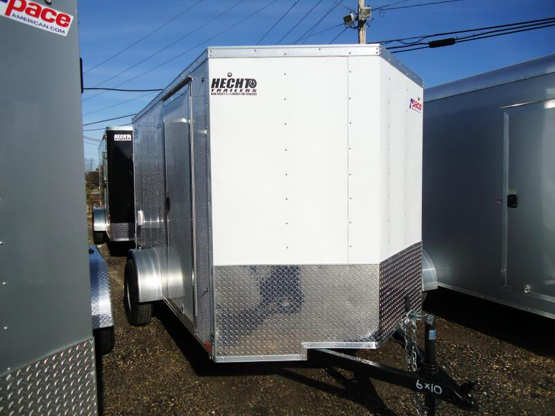 2019 Pace American 6X10 JV SI2 RAMP SVNTS WHITE Enclosed Cargo Trailer