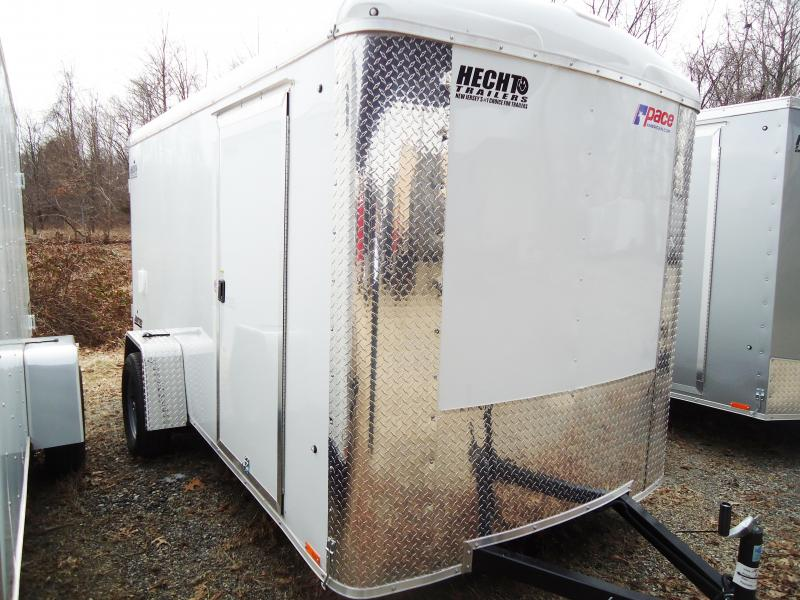 2019 Pace American 6X12 JTSE SI2 RAMP SVNTS WHITE Enclosed Cargo Trailer