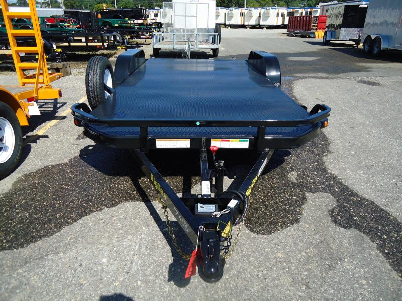 2018 Big Tex Trailers CH 7X20 70DM 20BK4SIR DT ADJ COUP BLACK Car / Racing Trailer