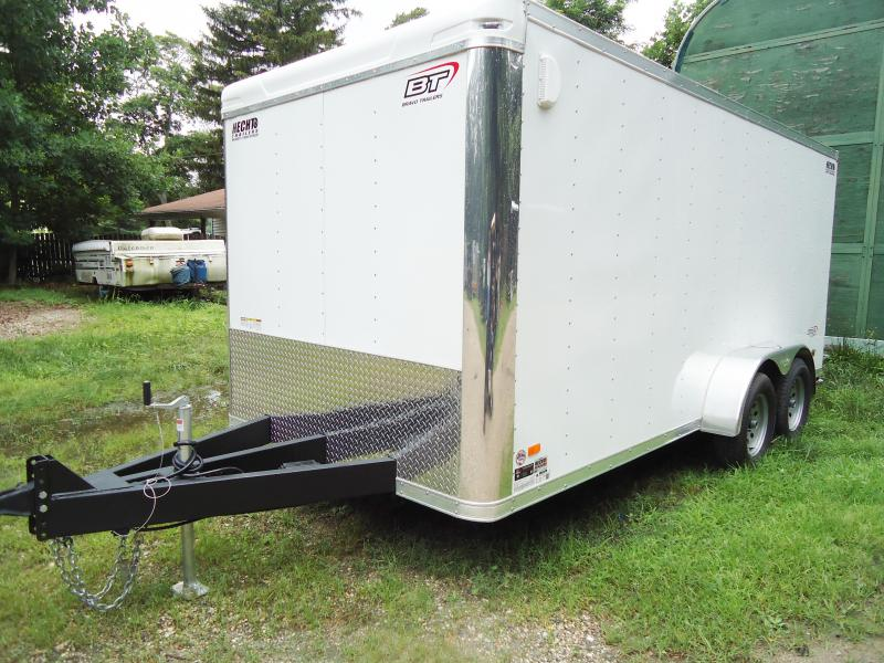 2018 Bravo Trailers 7X16 ST TA2 LNDSCP HD RAMP WHITE Enclosed Cargo Trailer