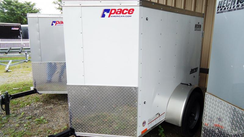 2020 Pace American 4X6 JV SI2 18W WHITE Enclosed Cargo Trailer