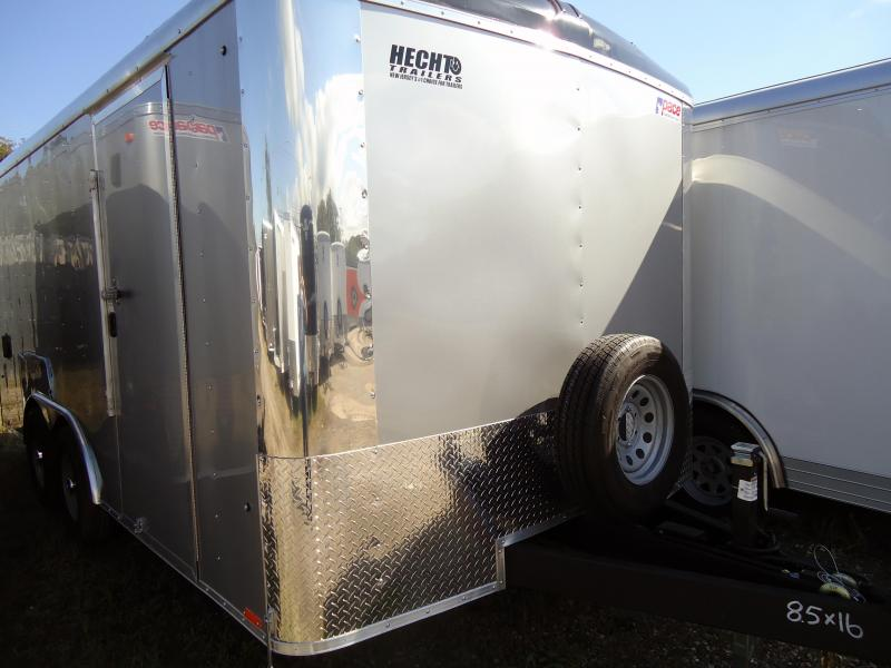 "2019 Pace American 8.5X16 CLS TE3 18"" ETUNG RAMP SILVER Enclosed Cargo Trailer"