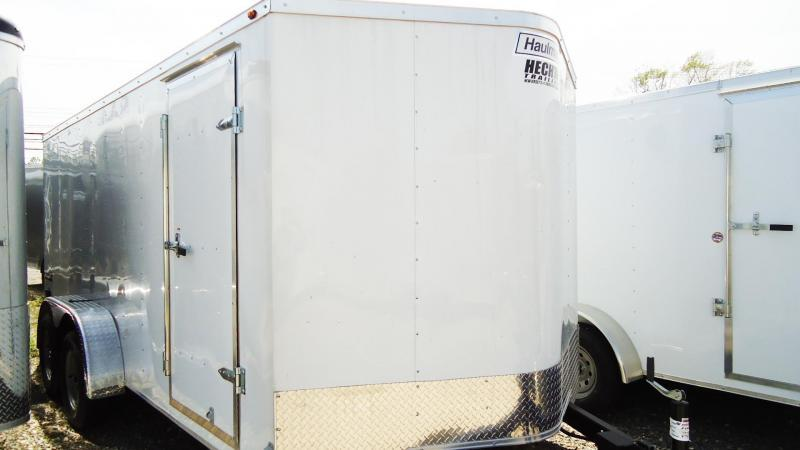 2019 Haulmark 7X16 PPT T2 RAMP WHITE Enclosed Cargo Trailer