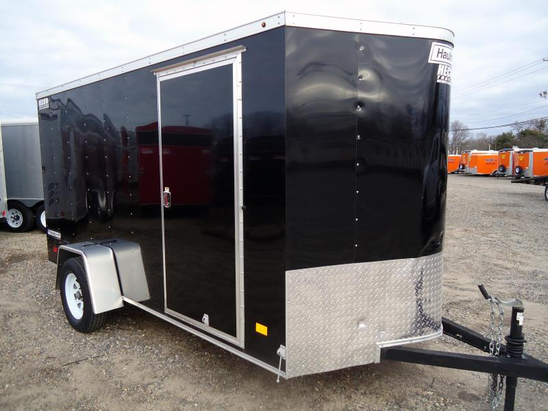 2017 USED Haulmark 6X12 PPT PASSPORT BLOWER TRIMMER HEDGE TRIM SHOVEL RACK CARGO / ENCLOSED TRAILER BLACK
