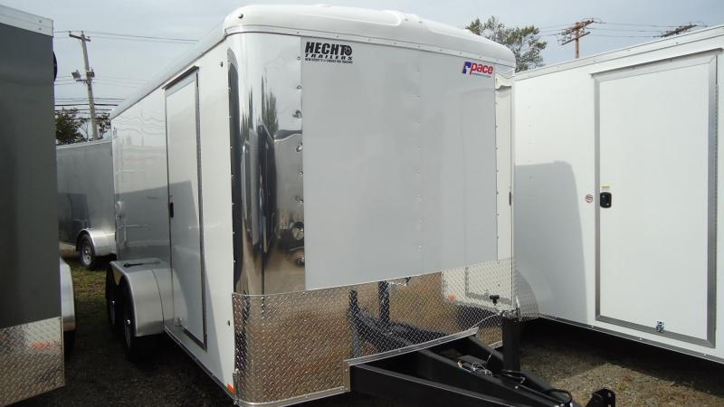 "2020 Pace American 7X14 CLS TE2 6""X RAMP WHITE Enclosed Cargo Trailer"
