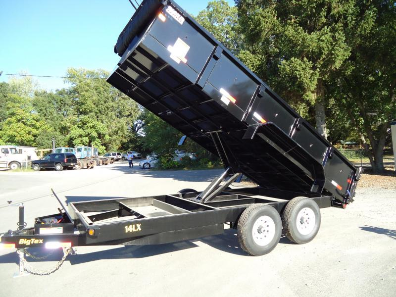2018 Big Tex Trailers DT 7X16 14LX 16BK-P4 TARP BLACK BLACK Dump Trailer
