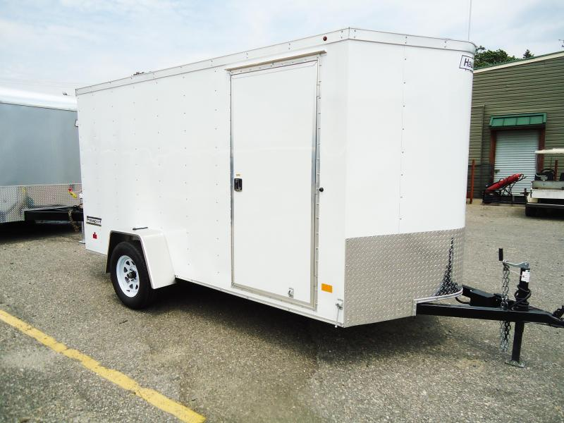 2017 Haulmark 6X12 PPT DS2 RAMP E BRAKES WHITE Enclosed Cargo Trailer