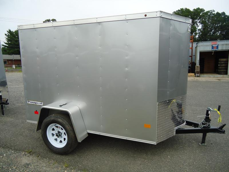2018 Haulmark 5X8 PPT DS2 LD RAMP SILVER Enclosed Cargo Trailer