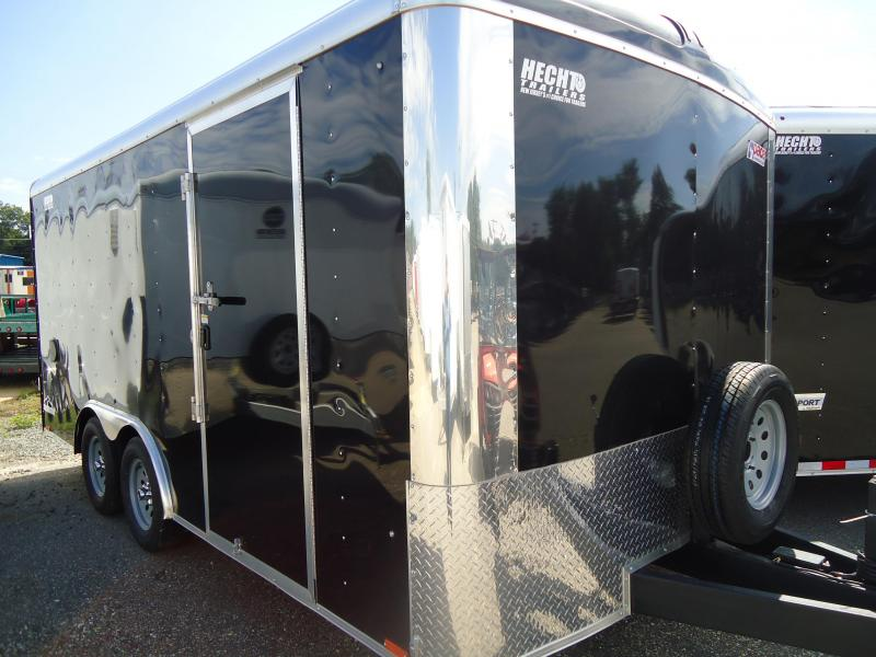 2017 Pace American 8.5X16 CLS TE2 18 TUNG RAMP SVNTS BLACK Enclosed Cargo Trailer