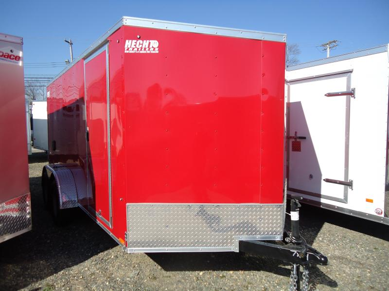2019 Pace American 7X14 OBDLX TE2 30 VS RAMP SVNTS RED Enclosed Cargo Trailer