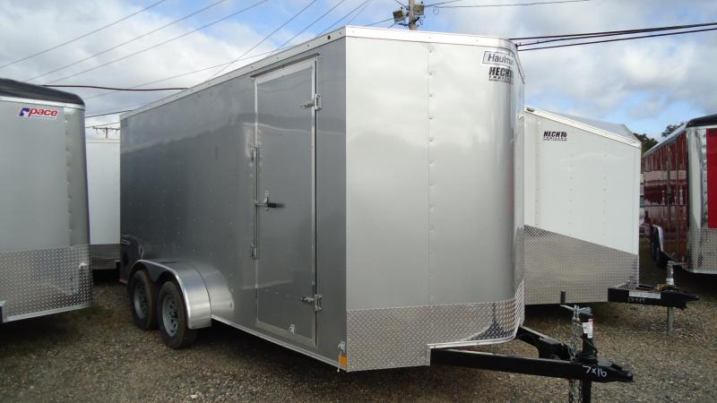 2019 Haulmark 7X16 PP T2 D6X RAMP SILVER Enclosed Cargo Trailer