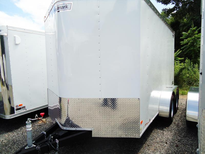 2017 Haulmark 7X12 TSTV WT2 12TUNG RAMP+ WHITE Enclosed Cargo Trailer