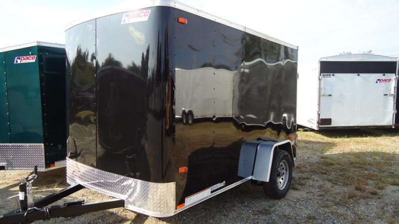 2020 Pace American 6X10 OB SE2 EB STAB JCK RAMP BLACK Enclosed Cargo Trailer