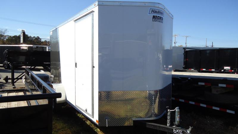 2020 Haulmark 6X12 TSV S2 RAMP WHITE CHARCOAL Enclosed Cargo Trailer