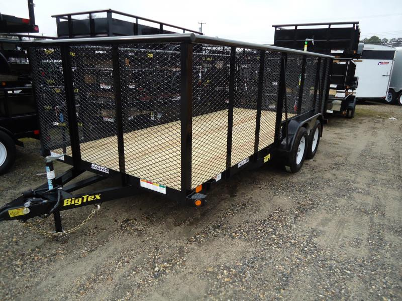 2018 Big Tex Trailers UT-7X16 70PI 16X BK 4RG 4