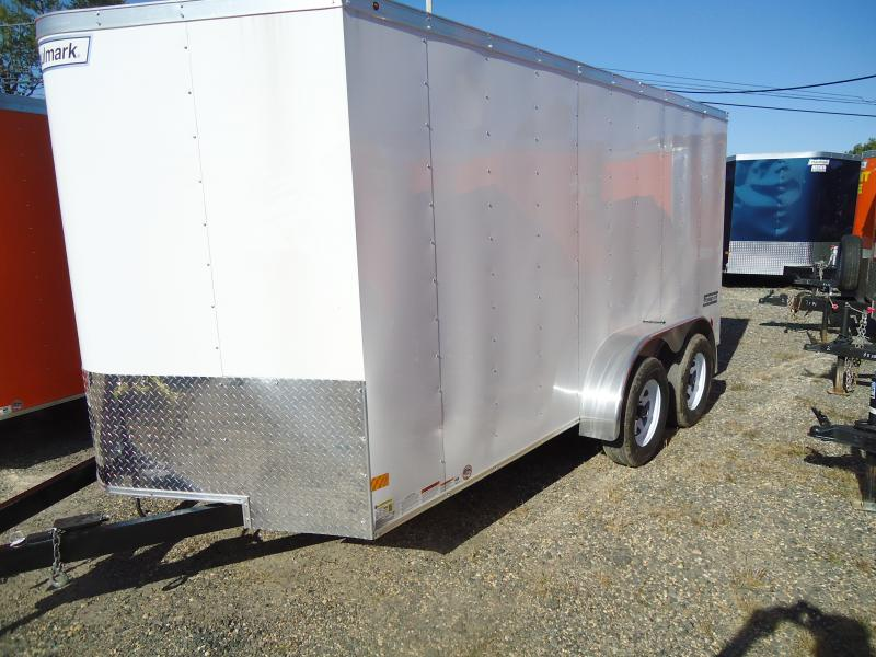 2018 Haulmark 7X14 PPT DT2 RAMP WHITE Enclosed Cargo Trailer