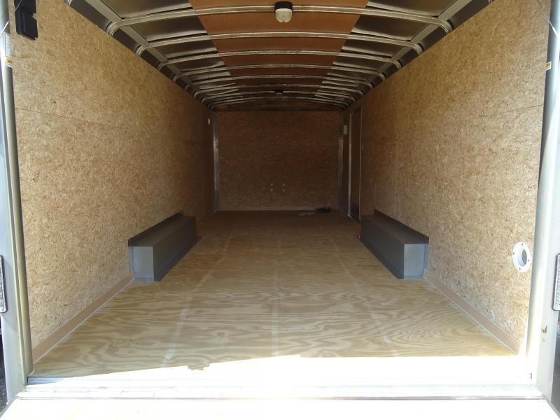 "2016 Wells Cargo 8.5X20 EW LS PKG 12""XTUN Enclosed Cargo Trailer"