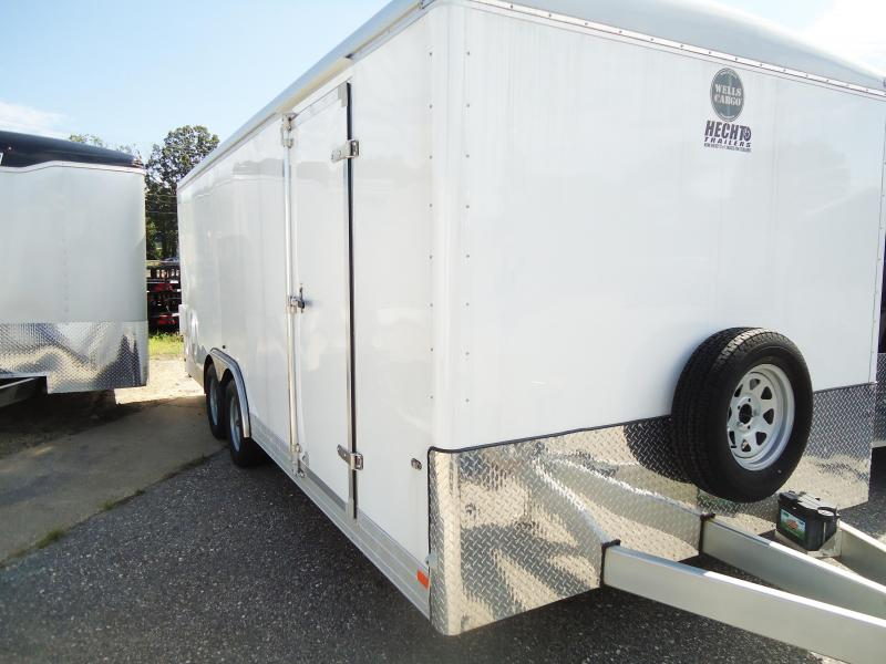 "2016 Wells Cargo 8.5X20 EW LS PKG 12""XTUN Enclosed Cargo Trailer"