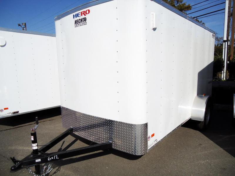 2018 Bravo Trailers 6X12 HR SA RAMP WHITE Enclosed Cargo Trailer