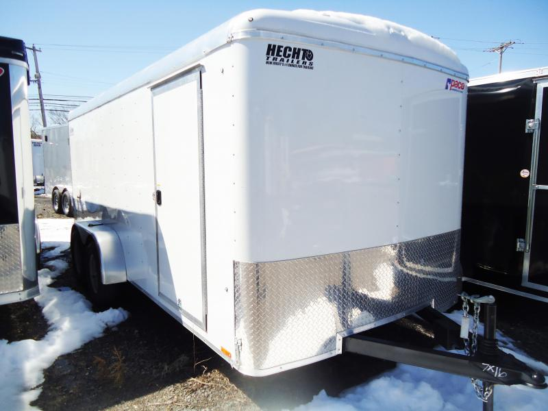 2019 Pace American 7X16 JT TE2 RAMP SVNTS WHITE Enclosed Cargo Trailer