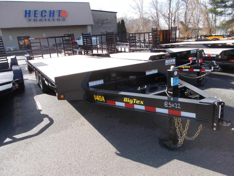 2019 Big Tex Trailers EH 8.5X22 14OA 22BK 2EB BLACK Equipment Trailer
