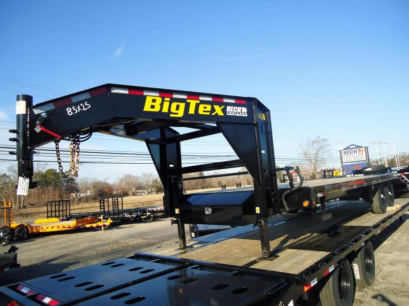 2019 Big Tex Trailers GN 8.5X25 14GN 20BK5 5FUR BLACK Equipment Trailer