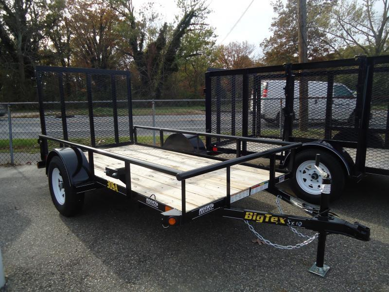 2017 Big Tex Trailers UT 5X10 30SA 10BK 4RG BLACK Utility Trailer