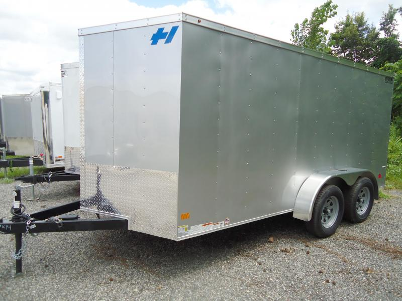 2017 Haulmark 7X14 TH DT2 ROPE RING R VENT SILVER Enclosed Cargo Trailer