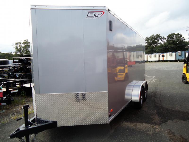 "2019 Bravo Trailers 7X14 SC TA2 30""V 6""X RAMP SILVER Enclosed Cargo Trailer"