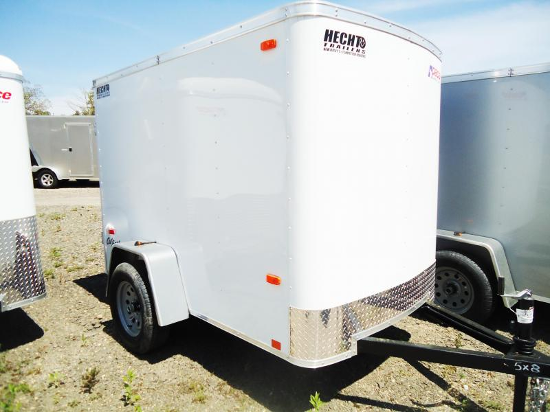2018 Pace American 5X8 OB SI2 FD JCK 5K DRNG WHITE Enclosed Cargo Trailer