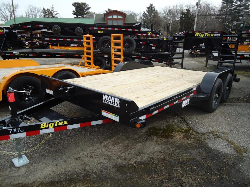 2019 Big Tex Trailers EH 7X16 10ET 16BK KR KNEE BLACK Equipment Trailer