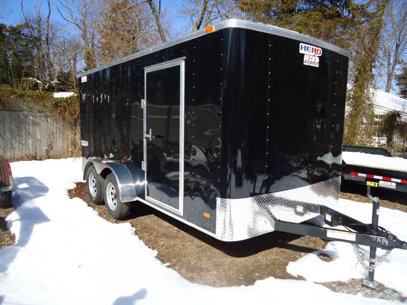 2018 Bravo Trailers 7X14 HR HERO TA2 RAMP SVNTS BLACK Enclosed Cargo Trailer