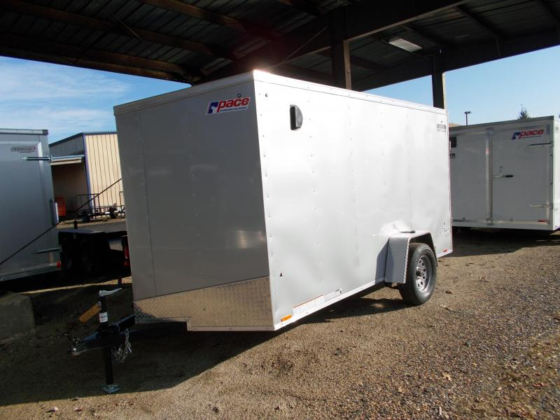 2019 Pace American 6X12 OBDLX SI2 SVNTS SILVER Enclosed Cargo Trailer