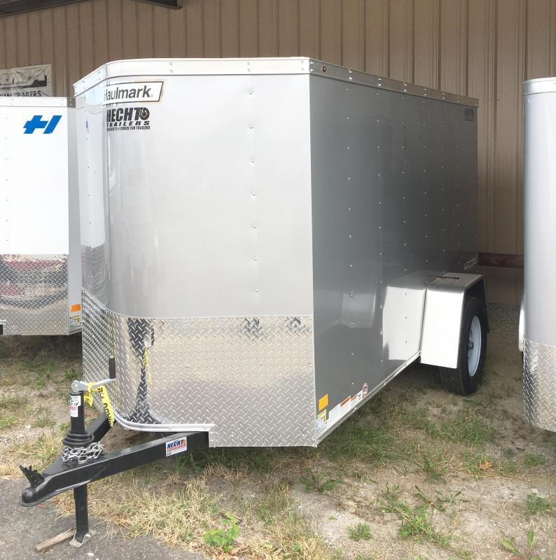 2018 Haulmark 5X10 PPT DS2 LD RAMP SILVER Enclosed Cargo Trailer